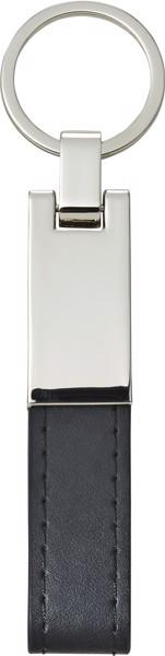Steel and PU key holder - Black
