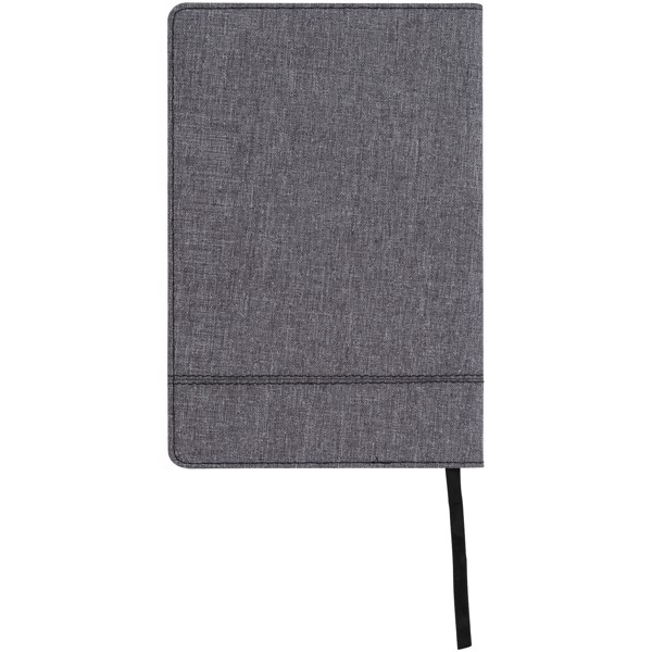 Heathered A5 notebook with leatherlook side - Solid black
