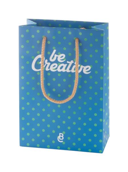 Malá Papírová Nákupní Taška Na Zakázku CreaShop S - Vícebarevná