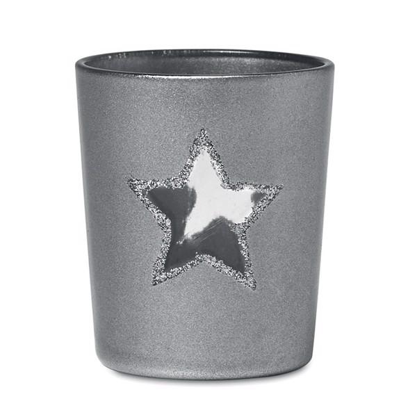 Świecznik Shinny Star - srebrny