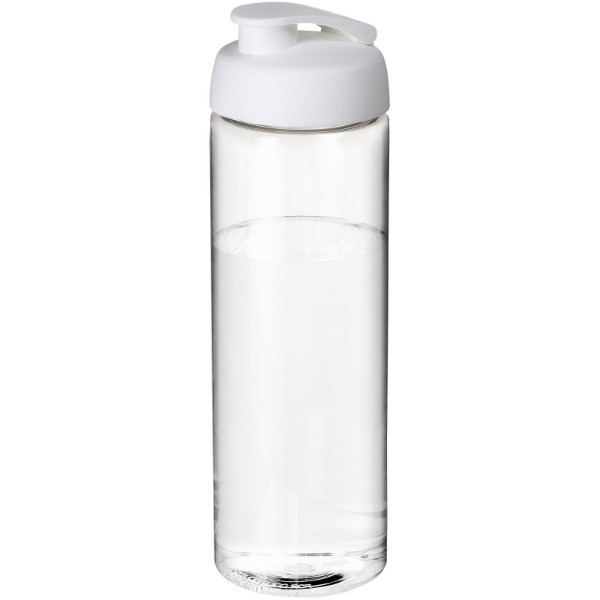 H2O Vibe 850 ml flip lid sport bottle - Transparent / White
