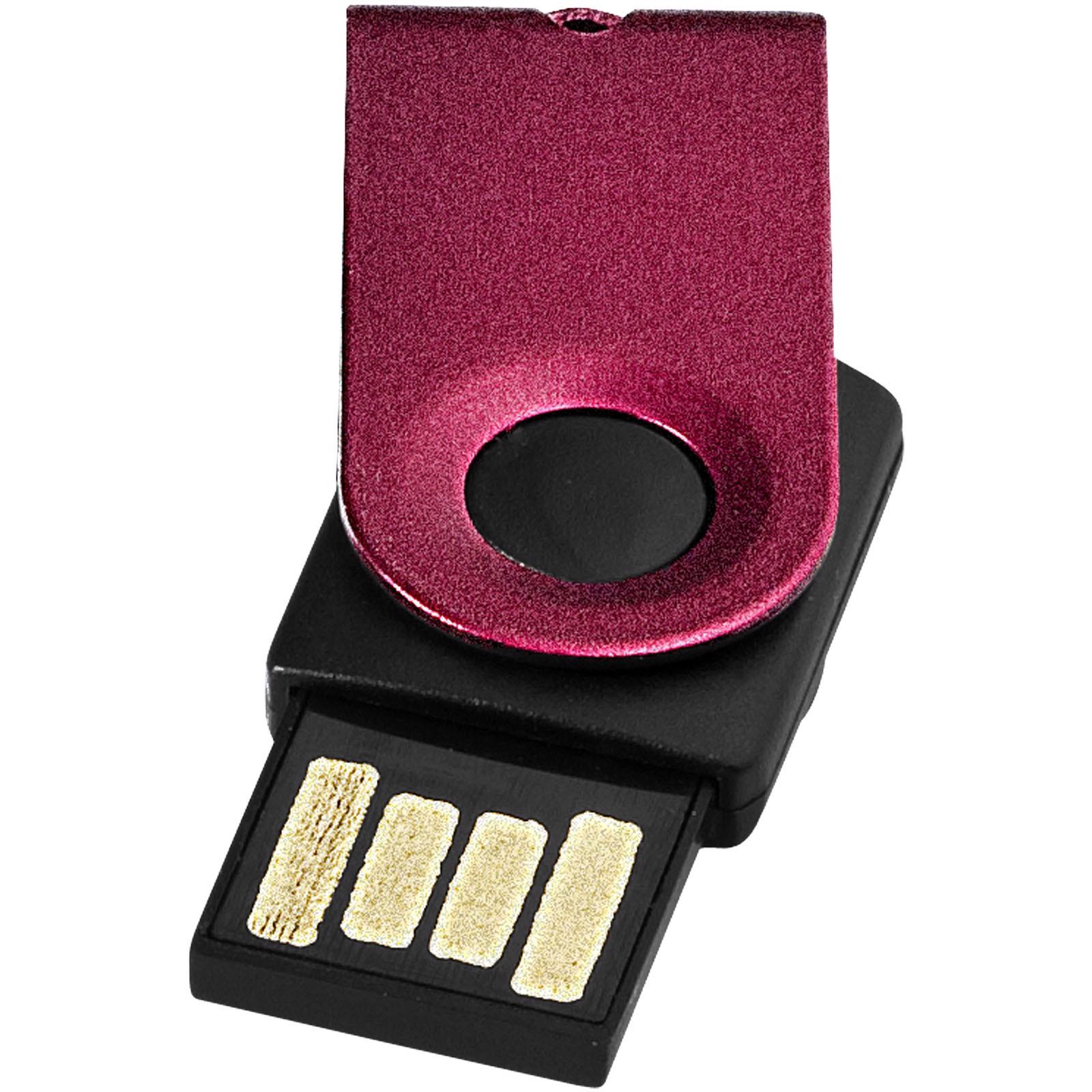 Mini USB paměť - Červená s efektem námrazy / 8GB