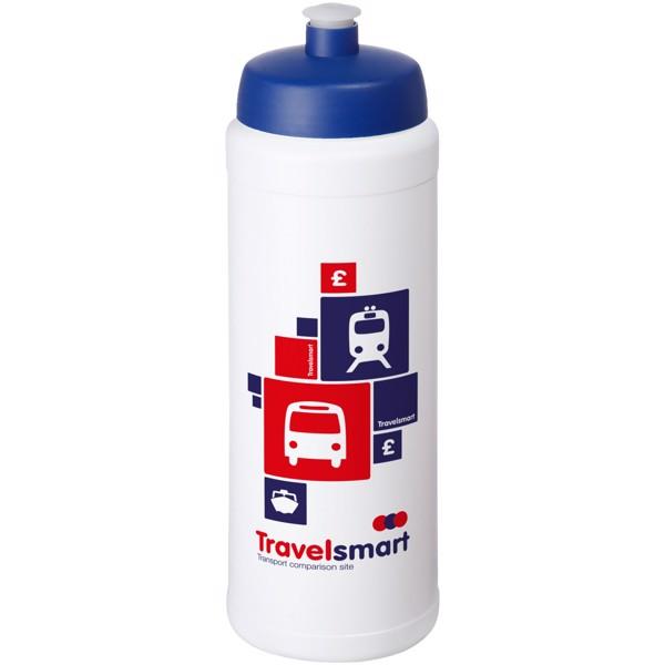 Baseline® Plus grip 750 ml sportovní lahev s víčkem na sport - Bílá / Modrá