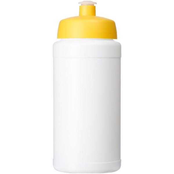 Baseline® Plus 500 ml lahev se sportovním víčkem - Bílá / Žlutá