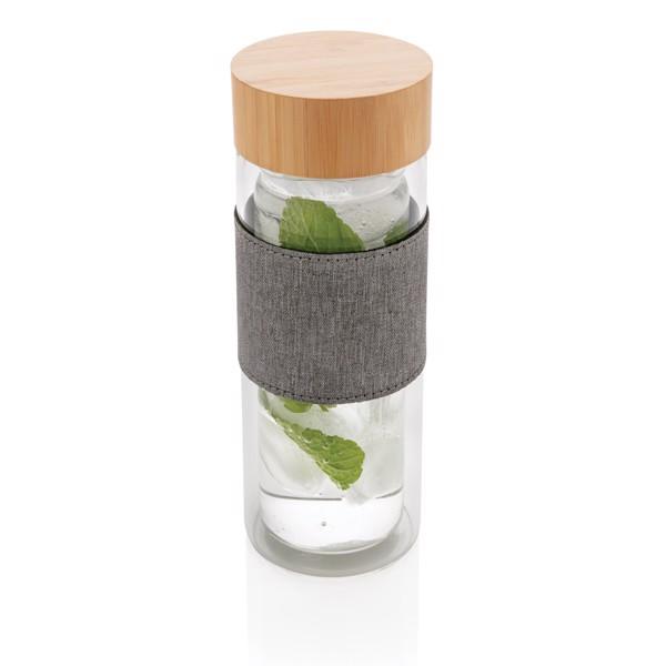 Dvoustěnná skleněná láhev s bambusovým uzávěrem Impact