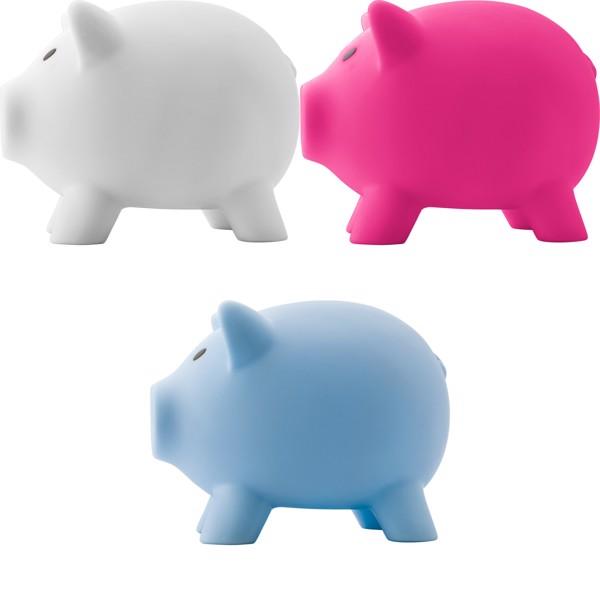 PVC piggy bank - Light Blue