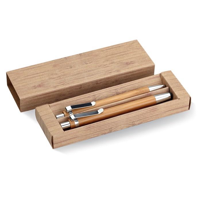 Bamboo pen and pencil set Bambooset