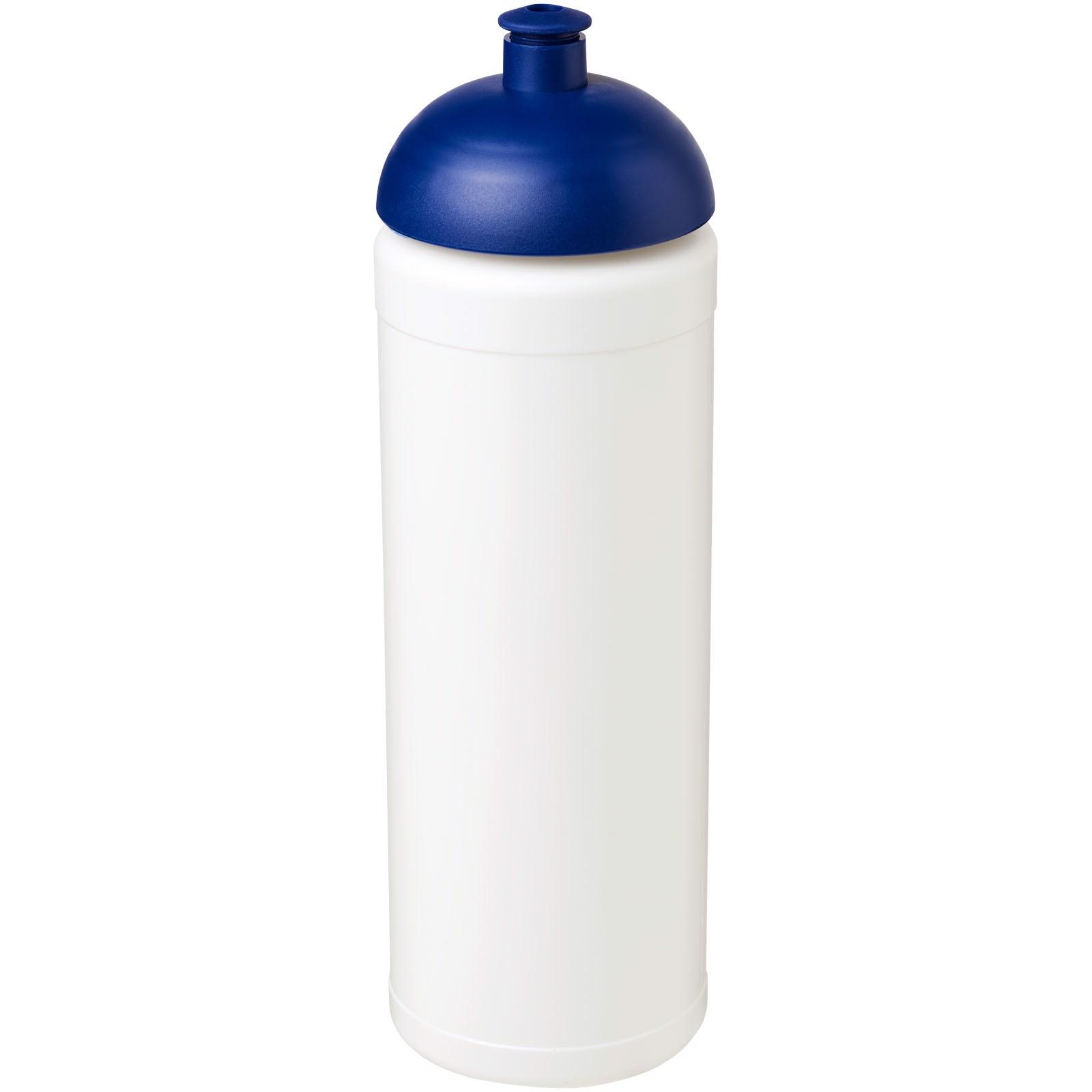 Sportovní láhev s kupolovitým víčkem Baseline® Plus grip 750 ml - Bílá / Modrá