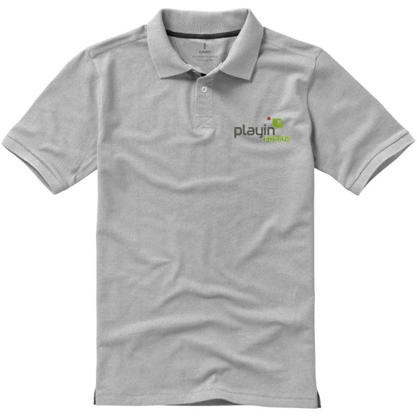 Calgary short sleeve men's polo - Grey melange / S