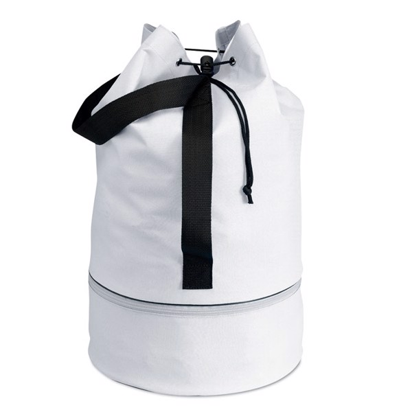 Duffle bag in 600D polyester Pisina - White