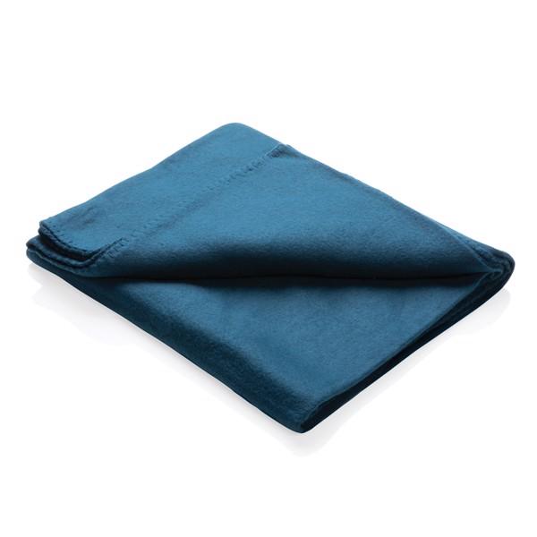 Fleece blanket in pouch - Navy