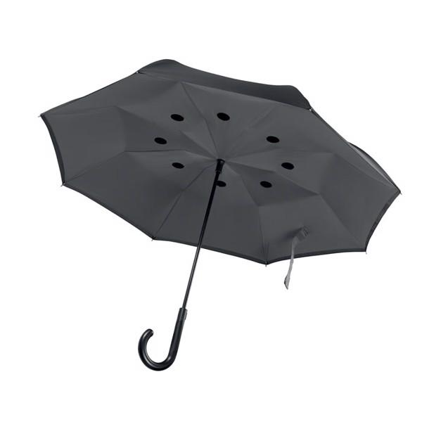 Odwrotnie otwierany parasol Dundee - szary