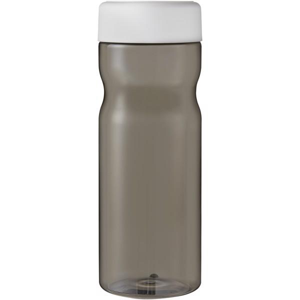 H2O Eco Base Bidón deportivo con tapa de rosca de 650ml - Carbón / Blanco