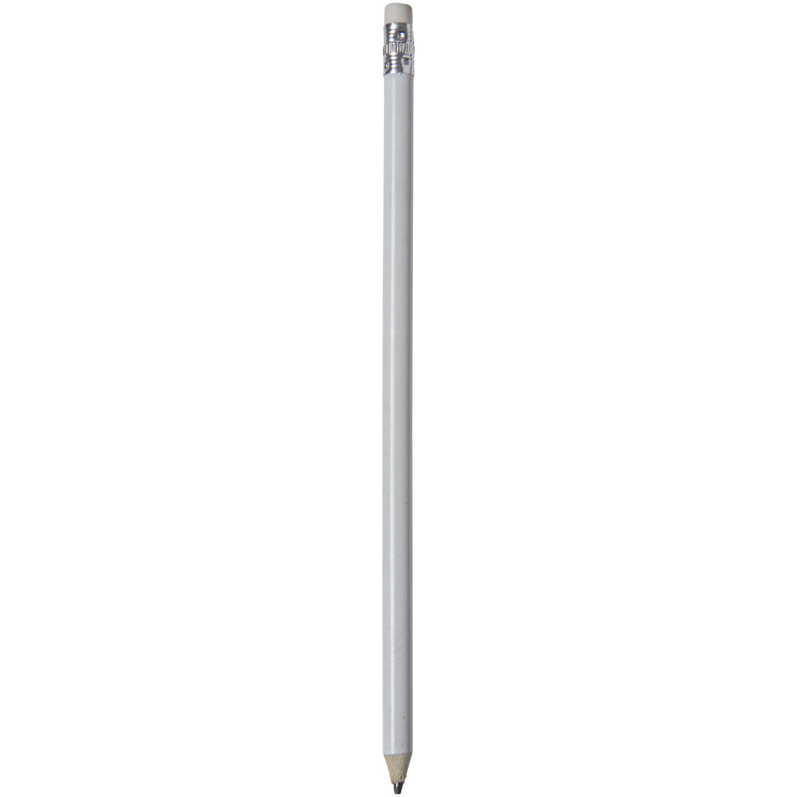 Alegra pencil with coloured barrel - White