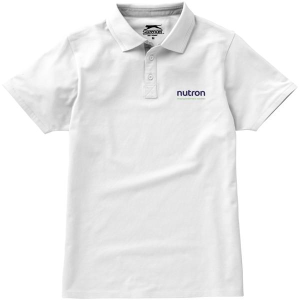 Hacker short sleeve polo - White / Grey / S