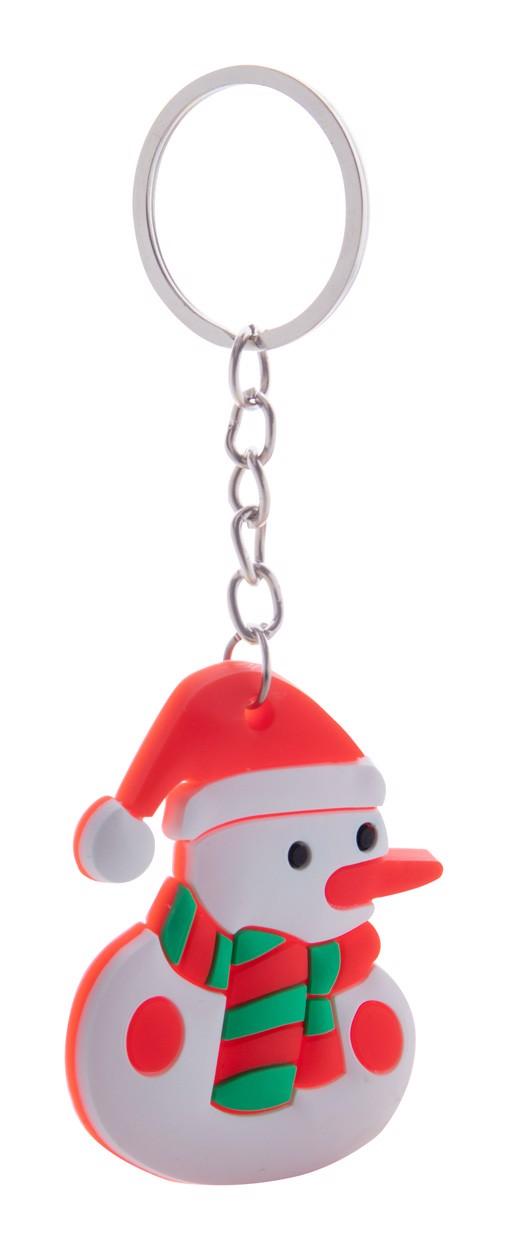 Christmas Keyring Tridux, Snowman - White