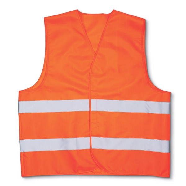 Knitted material waistcoat Visible - Orange