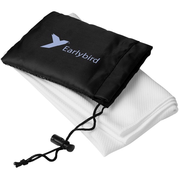 Peter cooling towel in mesh pouch - White