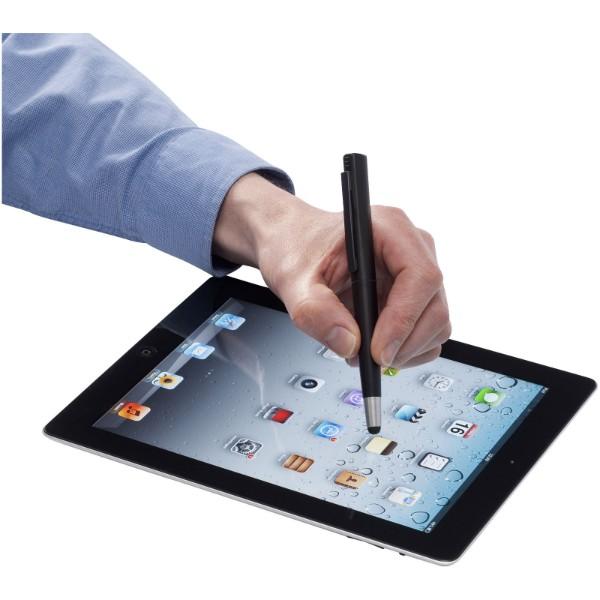 Długopis ze stylusem i pamięcią USB 4GB Naju - Czarny / 4GB
