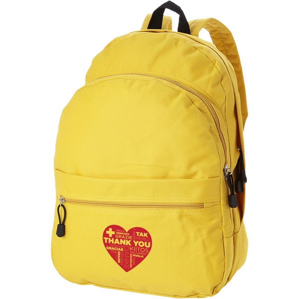 Trend 4-compartment backpack - Yellow