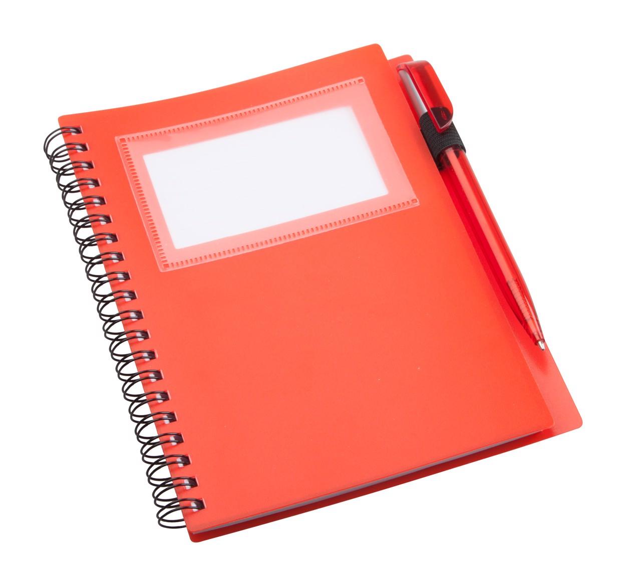 Poznámkový Blok Tagged - Červená