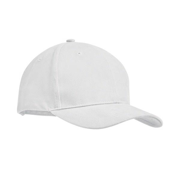 Šestipanelová kšiltovka Tekapo - white