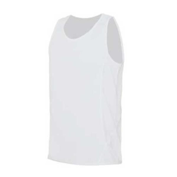 T-Shirt Técnica Track De Alças, Quick Dry 150G - 100% Poliéster - Branco / 2XL