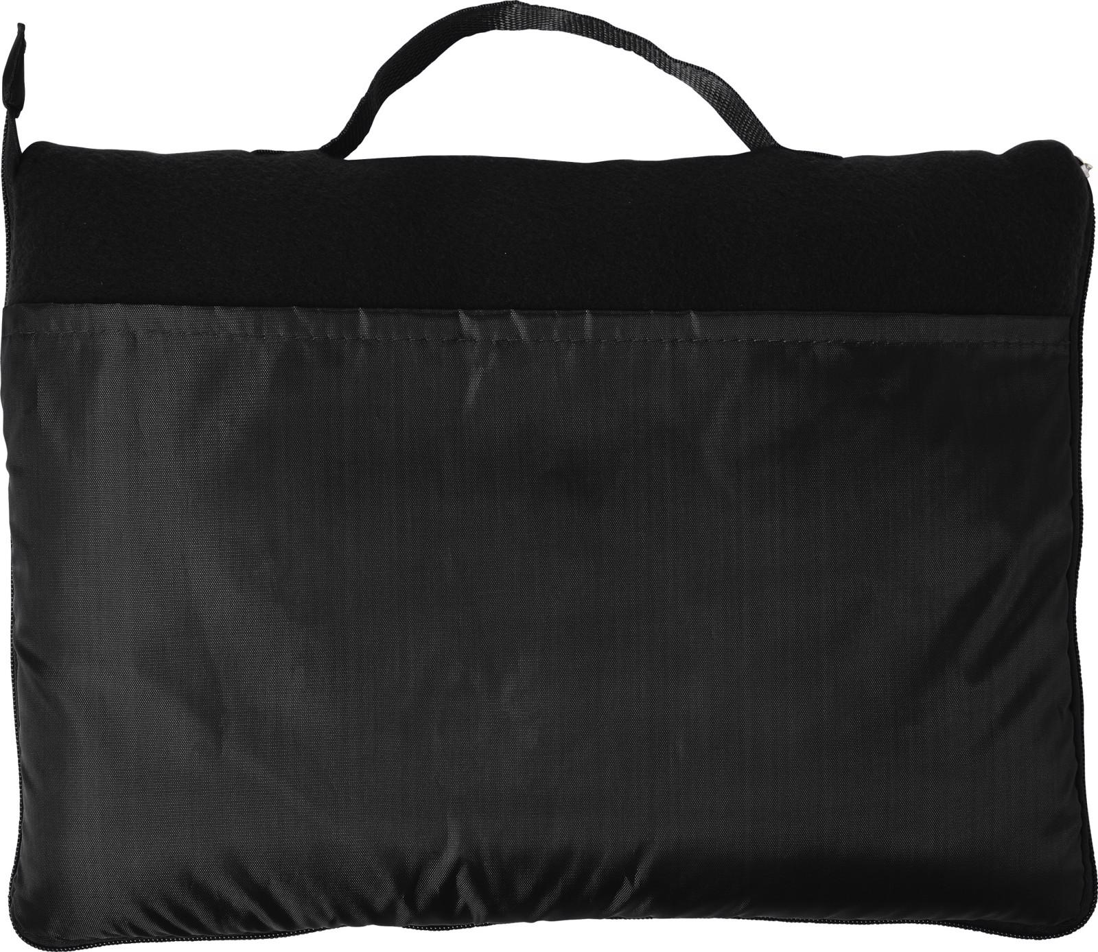 Fleece (180 gr/m²) blanket - Black