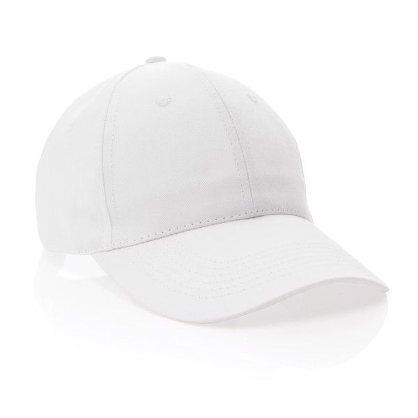 Impact 6 panel 190gr Recycled cotton cap with AWARE™ tracer - White