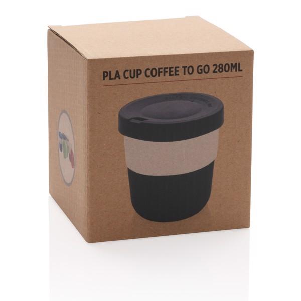 PLA kávésbögre 280 ml - Fekete