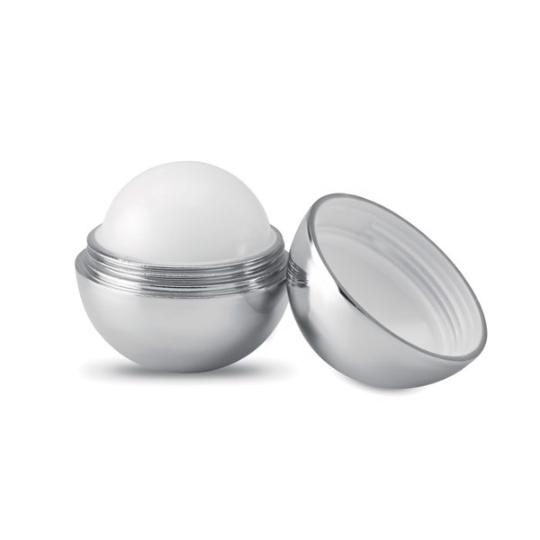 Round lip balm UV finish Uv Soft - Shiny Silver