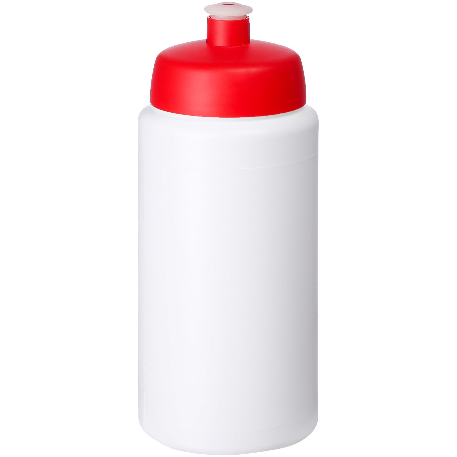 Baseline® Plus grip 500 ml sportovní lahev s víčkem na sport - Bílá / Červená s efektem námrazy