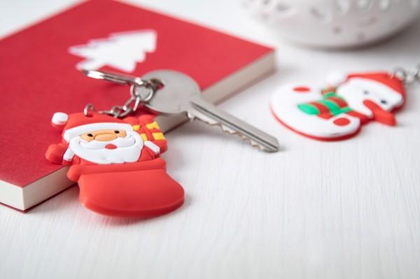 Christmas Keyring Tridux, Santa Claus - Red