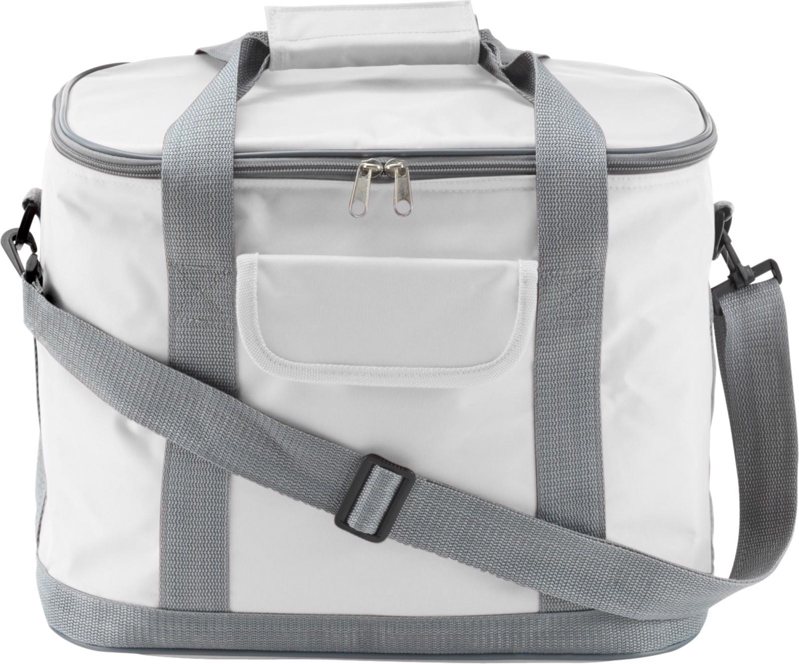 Polyester (420D) cooler bag - White
