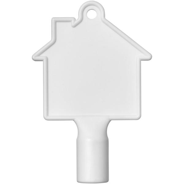 Maximilian house-shaped meterbox key - White