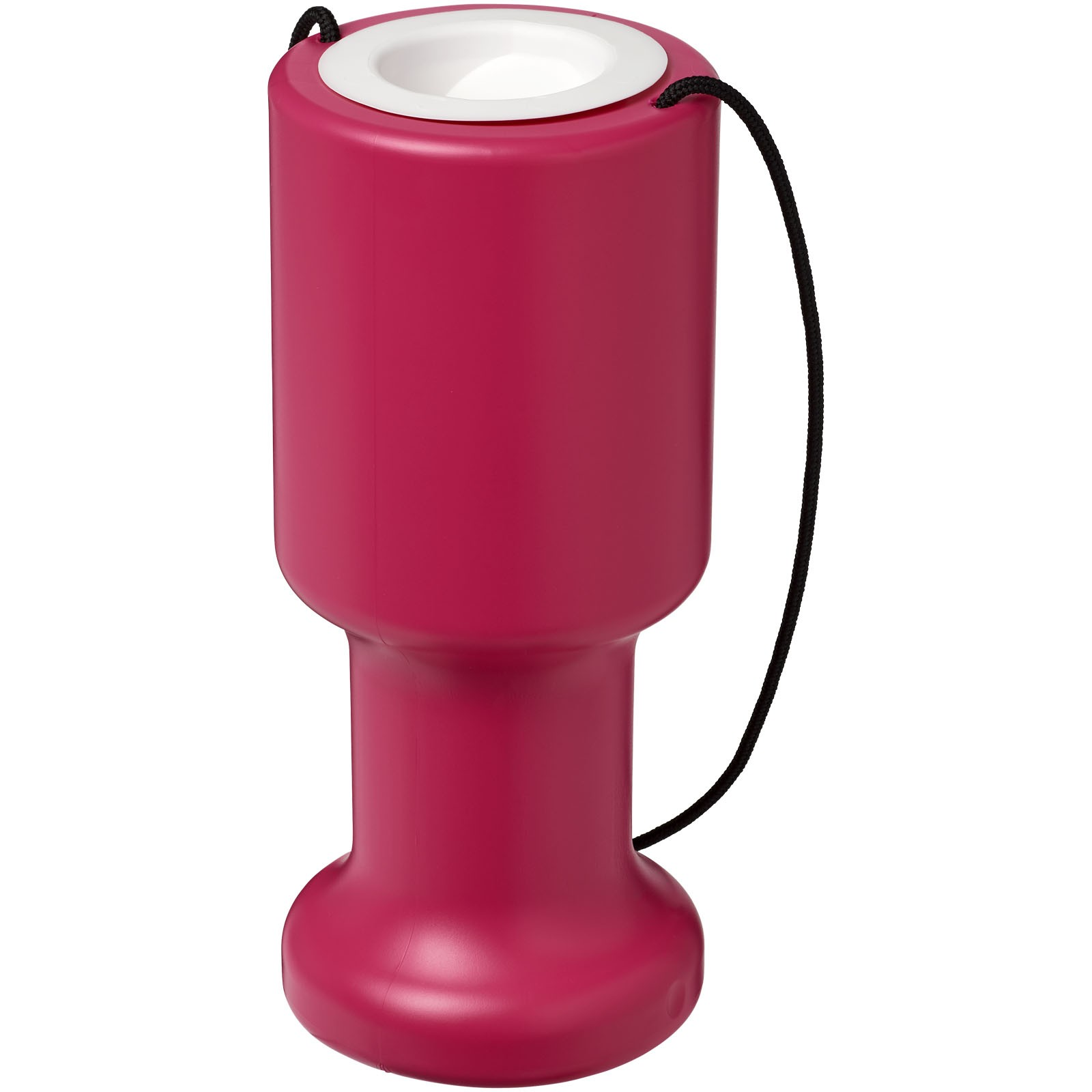 Asra hand held plastic charity container - Magenta