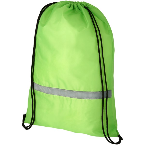 Oriole safety drawstring backpack - Lime