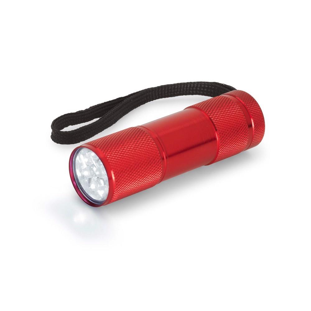 FLASHY. Torch in aluminium - Red