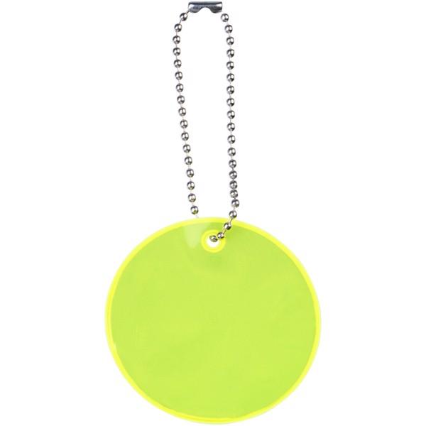 Reflexní přívěsek kulatý střední - Žlutá