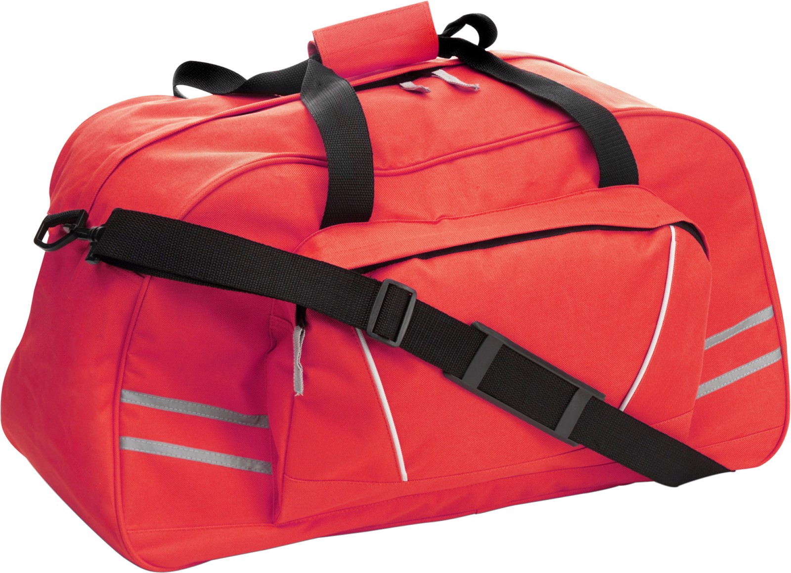 Polyester (600D) sports bag - Red