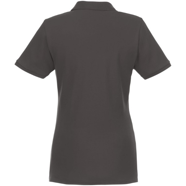 Beryl short sleeve women's GOTS organic GRS recycled polo - Storm grey / M