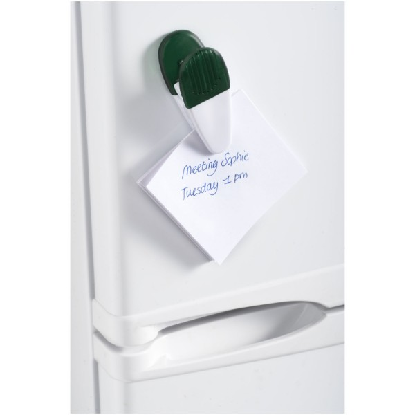 Holdz magnetic memo holder clip - Transparent green / White
