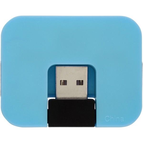 Gaia 4-port USB hub - Blue