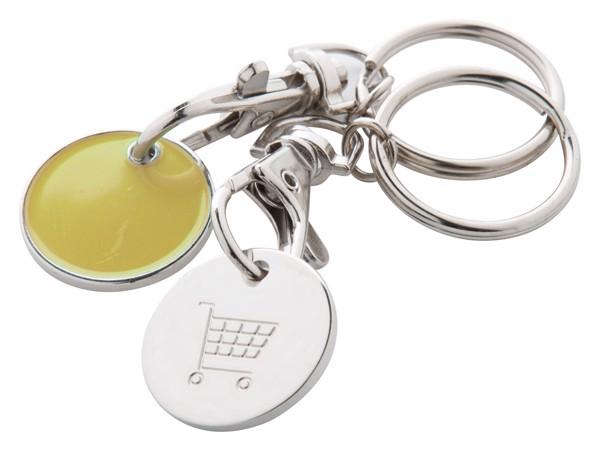Přívěšek Na Klíče Se Žetonem Euromarket - Žlutá