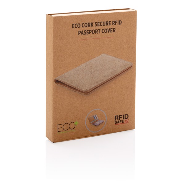 Ovitek za potni list iz plute z RFID zaščito ECO