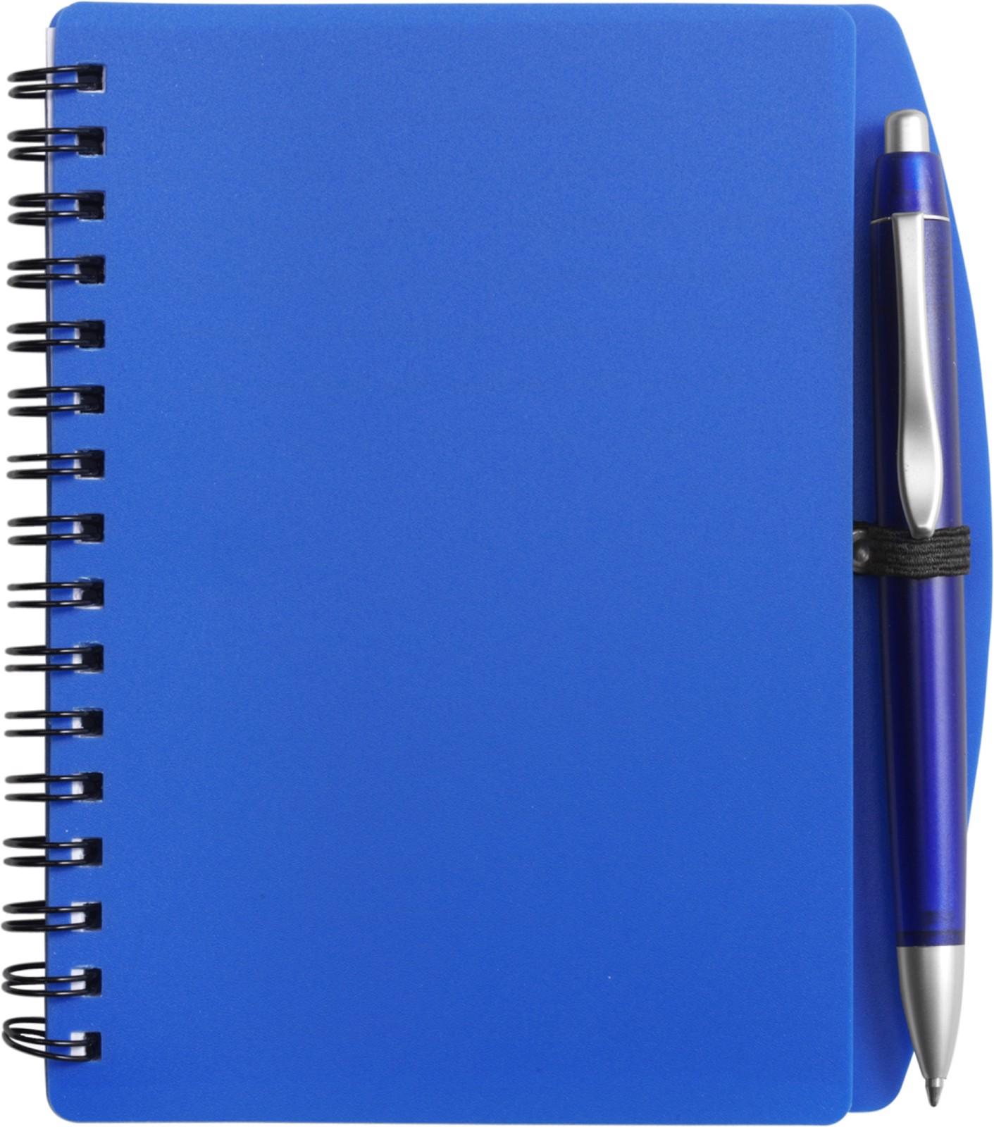 PP notebook with ballpen - Blue