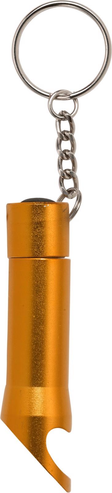 Aluminium 2-in-1 key holder - Orange