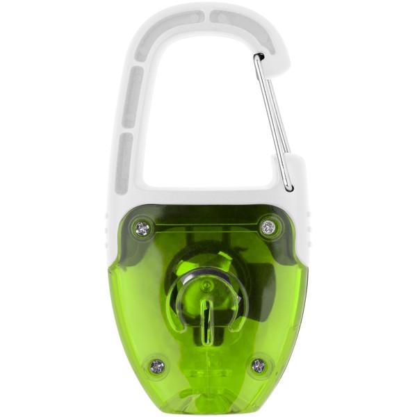 LED svítící klíčenka Reflect-or s karabinou - Limetka / Bílá