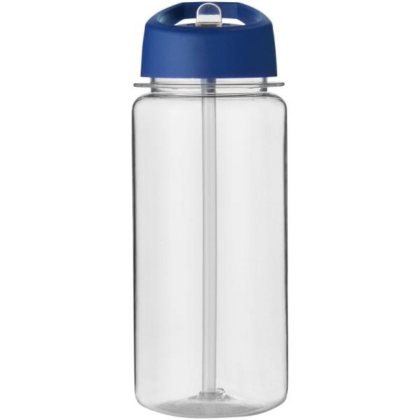 Octave Tritan™ 600 ml Sportflasche mit Ausgussdeckel - Transparent / Blau