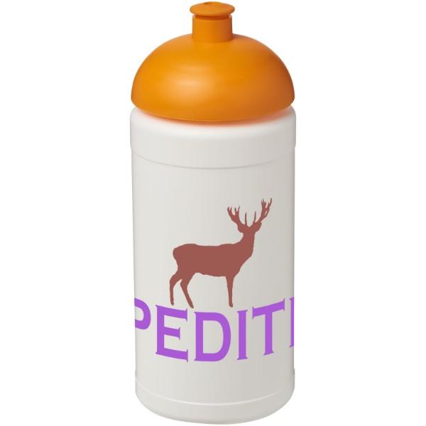 Sportovní láhev s kupolovitým víčkem Baseline® Plus 500 ml - Bílá / 0ranžová